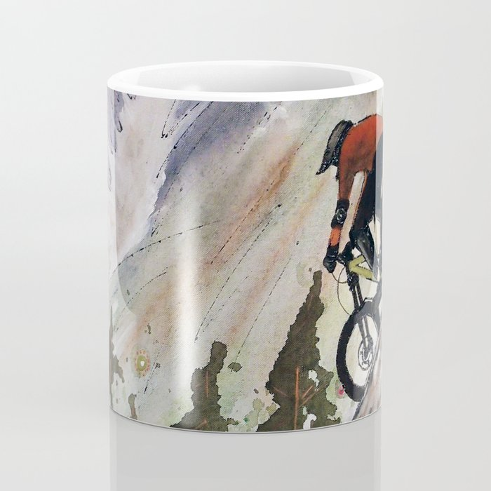 Downhill Biker Coffee Mug