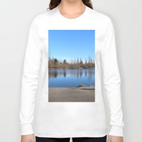 trout Long Sleeve T-shirts featuring Trout Lake by RMK Creative