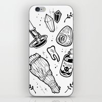 witchcraft iPhone & iPod Skins featuring WITCHCRAFT by Fokshe