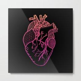 Designer Heart Colors Metal Print