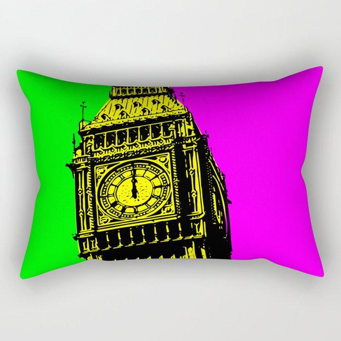 Big Ben - In all her coloured glory... Rectangular Pillow