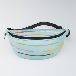 21 Flavors of Pocky - blue Fanny Pack