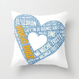 I Heart Hugo Diaz Tango Throw Pillow