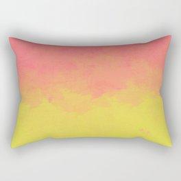 Peach Lime Ombré Rectangular Pillow