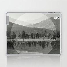 Mountain Mirror BW Laptop & iPad Skin