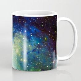 The Eagle Nebula Green Blue Coffee Mug