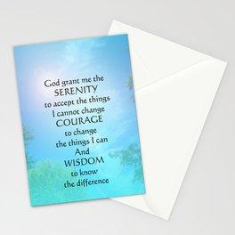 Serenity Prayer September Sky Stationery Cards