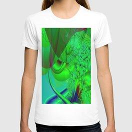 Abstract Green Algae T-shirt