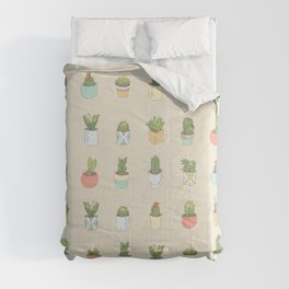 Cute Succulents Comforters