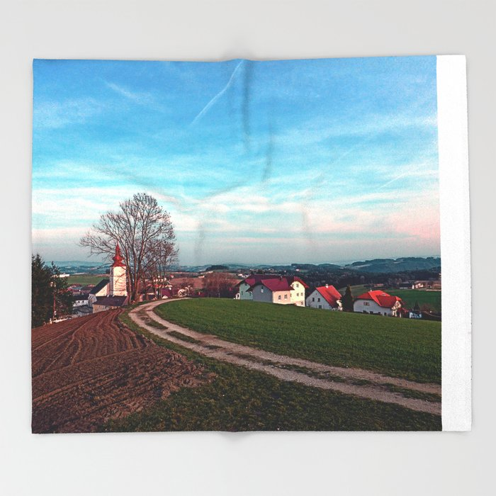 Hiking into springtime scenery | landscape photography Throw Blanket