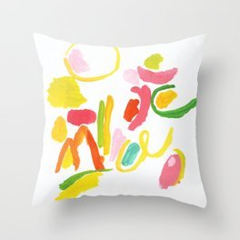 Abstract Landscape 1 Throw Pillow