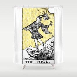 Geometric Tarot Print - The Fool Shower Curtain