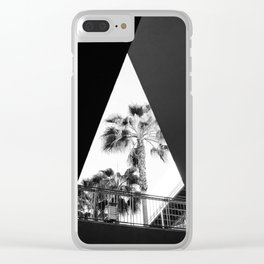 Form & Palm Trees Clear iPhone Case