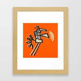 skip intro Framed Art Print