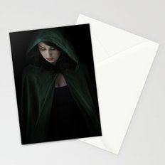 Hooded Woman Stationery Cards