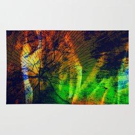 Rainbow Fire Wood Abstract Rug