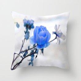 Blue Rose Simplicity Throw Pillow