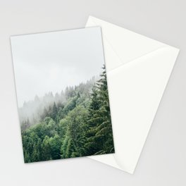 Mist Fog Forest Stationery Cards