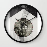 cigarettes Wall Clocks featuring Sky Brand Cigarettes by Red 99