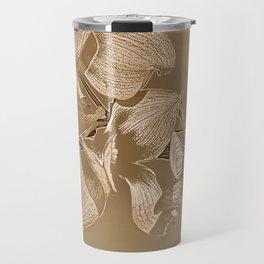 Dogwood Tree Flowers (sepia-light) Travel Mug