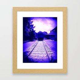 Indigo Train Framed Art Print