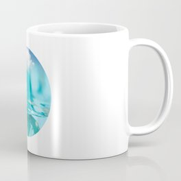 Little girl in water, with clouds Coffee Mug