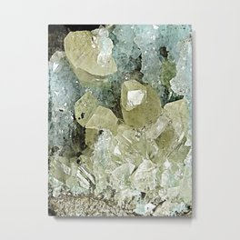 chrysocolla & calcite Metal Print