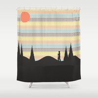 finding nemo Shower Curtains featuring Finding Oneself by Tammy Kushnir