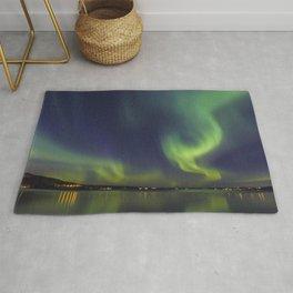 Northern Lights. Aurora borealis Rug