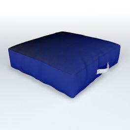 Black and Dark Blue Gradient 061 Outdoor Floor Cushion