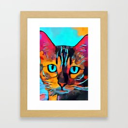 Cat 10 Framed Art Print