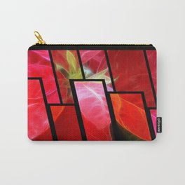 Mottled Red Poinsettia 2 Tinted 1 Carry-All Pouch