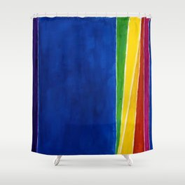 African American Masterpiece 'Atmospheric Effects'' by Alma Thomas Shower Curtain