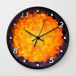 Abstract round mosaic background Wall Clock