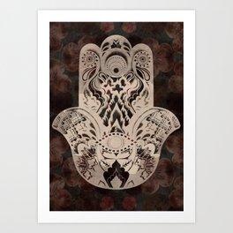 Blush Hamsa Art Print