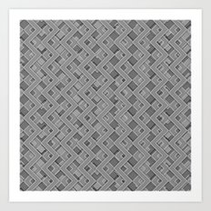 046 Abstract black, grey and white art for home decoration Art Print