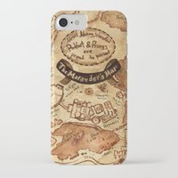 marauders iPhone & iPod Cases featuring Marauders Map by Dasha Borisenko