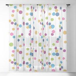 Cupcake Sprinkles Sheer Curtain