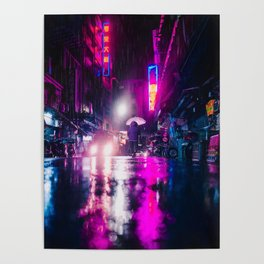 Purple Cyberpunk Poster