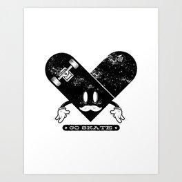 Go Skate!! Art Print