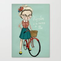 hipster Canvas Prints featuring Hipster by Maripili