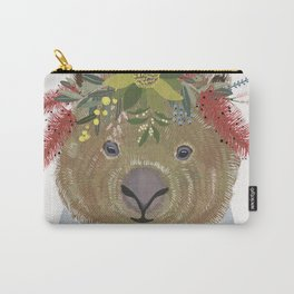 Wombat with floral crown Carry-All Pouch
