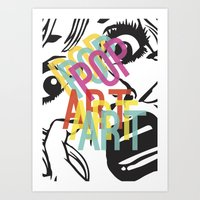 popart Art Prints featuring PopArt V by Ingunn Ro