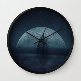 Moon Twilight Wall Clock