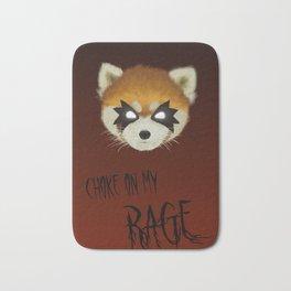 Aggretsuko Choke on my rage Bath Mat