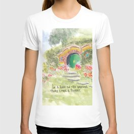 Hole in the Ground Green Door New Zealand T-shirt