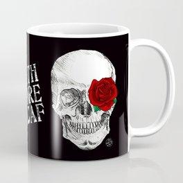 Rose Skull Black Coffee Mug