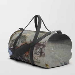 Collection of Seaweed in a Shallow Rockpool Duffle Bag