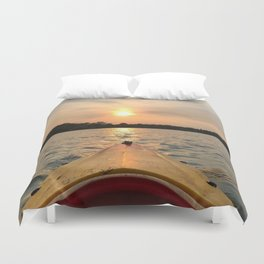Paddle Into the Sunset Duvet Cover