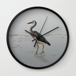 White-faced Heron Wall Clock
